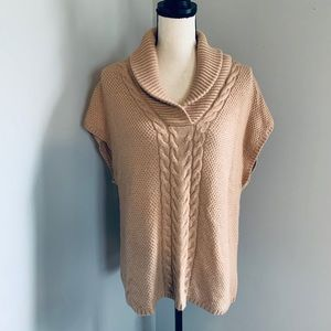 Talbots Camel Colored Cowl Neck Sweater, Small